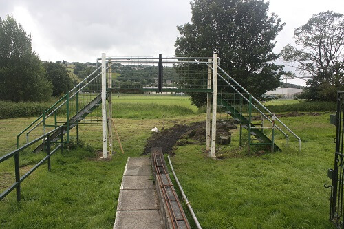 Bridge with new uprights and handrails.
