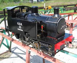 GER 0-4-0 steam locomotive