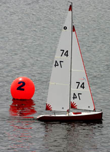 International One Metre sailing yatch