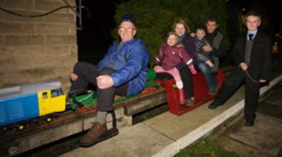 Passengers enjoying bonfire night