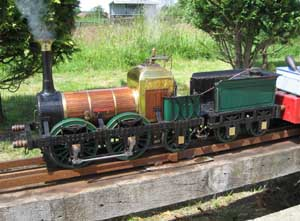 Model of Lion locomotive in 5 inch gauge