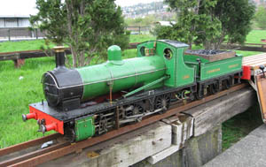 Simplex steam tender locomotive