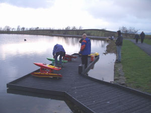 Boat owners at Redcar Tarn