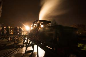 Steaming up model locomotives on bonfire night