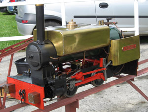 Sweet Pea design locomotive Airedale